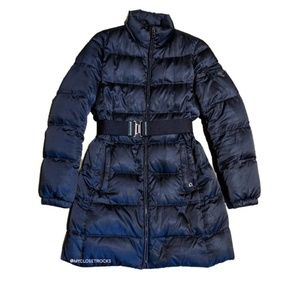 Prada Navy Long Puffer Coat Art.29C150